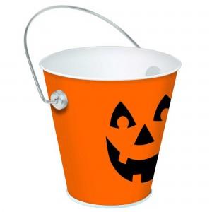 Halloween Jack-O-Lantern Metal Bucket Container Favour Boxe