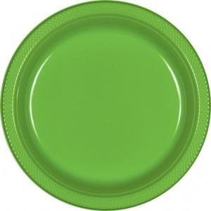 Green Kiwi Plastic Dinner Plates
