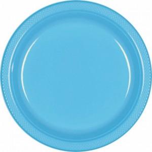 Blue Caribbean Plastic Dinner Plates