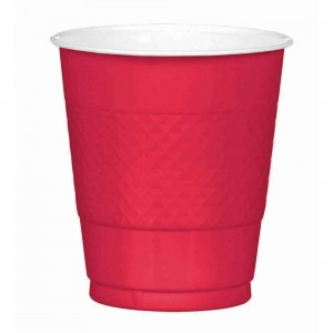 Red Apple  Plastic Cups