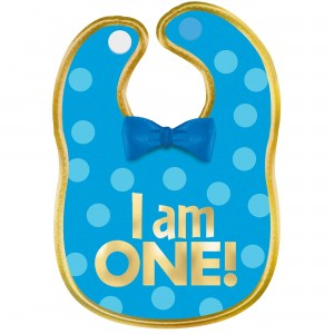 Boy's 1st Birthday Blue Fabric Bib Costume Accessorie