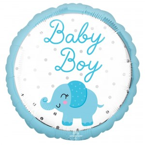 Boy Enchanting Elephant Standard HX Foil Balloon