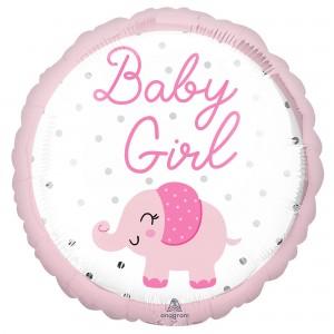 Girl Enchanting Elephant Standard HX Foil Balloon