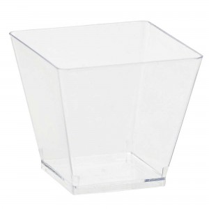 Clear Mini Catering Cocktail Cubes Plastic Cups
