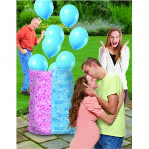 Gender Reveal Boy Balloon Sack, Latex Balloons & Ribbons Misc Accessorie