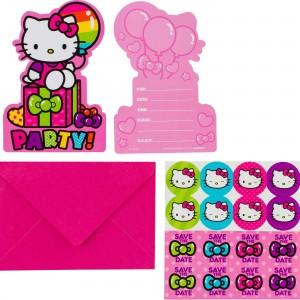 Hello Kitty Rainbow Postcard Invitations