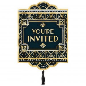 Glitz & Glam Black & Gold  Invitations