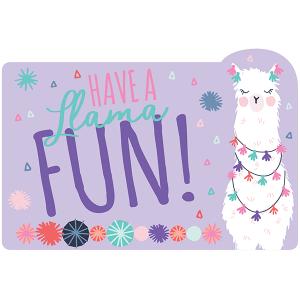 Llama Fun Postcard Invitations
