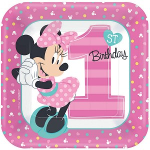 Minnie Mouse 1st Birthday Fun To Be One Lunch Plates