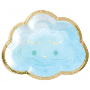 Oh Baby Boy Metallic Shaped Lunch Plates