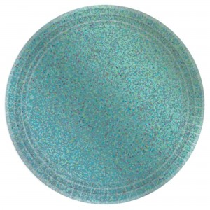 Blue Robin's Egg Prismatic Lunch Plates