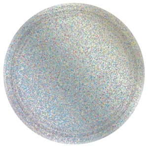 Silver Prismatic Lunch Plates