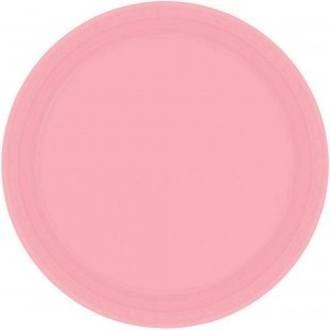 Pink New Paper Dinner Plates