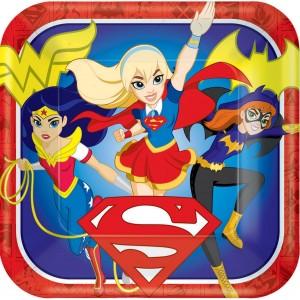 Super Hero Girls Paper Dinner Plates