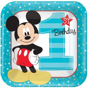 Mickey Mouse 1st Birthday Fun To Be One Dinner Plates