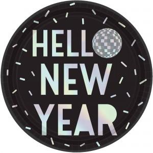 New Year Disco Ball Drop Dinner Plates