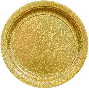 Gold Prismatic Dinner Plates