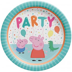 Peppa Pig Confetti Party Dinner Plates