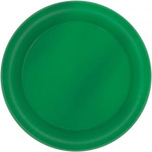 Green Festive Metallic Dinner Plates