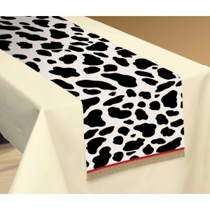 Cow Print Western Table Runner