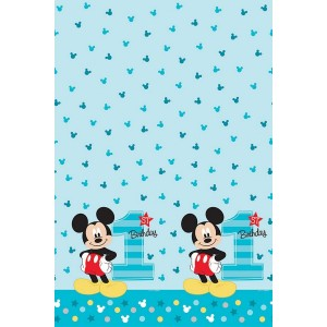 Mickey Mouse 1st Birthday Fun To Be One Plastic Table Cover