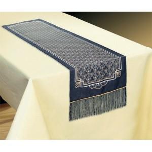 Glitz & Glam Black & Gold Fabric Table Runner