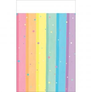 Magical Rainbow Plastic Table Cover