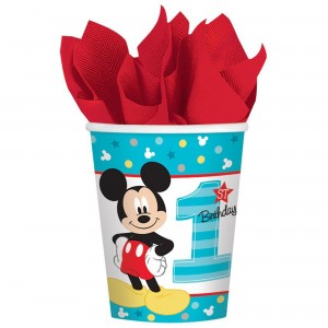 Mickey Mouse 1st Birthday Fun To Be One Paper Cups