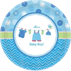 Shower with Love Boy Banquet Plates