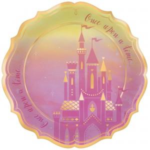 Disney Princess Once Upon A Time Metallic Shaped Banquet Plates