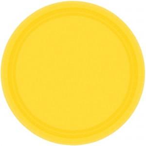 Yellow Sunshine Paper Dinner Plates