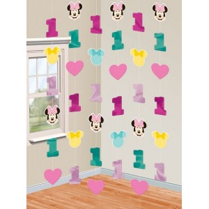 Minnie Mouse 1st Birthday Fun To Be One String Hanging Decorations