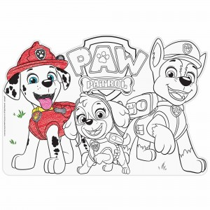 Paw Patrol Adventures Colour In Placemats Misc Accessories