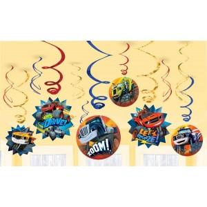 Blaze & The Monster Machines Swirl Hanging Decorations