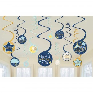 Twinkle Little Star Spiral Hanging Decorations