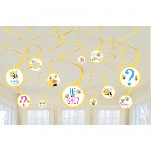 What Will It Bee? Spiral Hanging Decorations