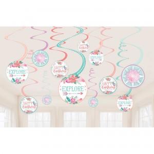 Free Spirit Spiral Hanging Decorations
