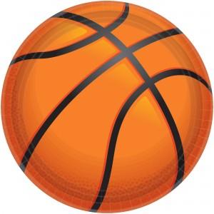 Basketball Fan Nothin' But Net Basketball Banquet Plates