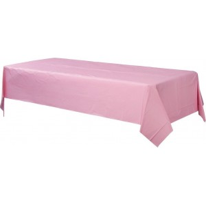 Pink New  Plastic Table Cover