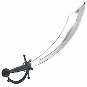 Pirate Black & Silver Cutlass Sword Costume Accessorie