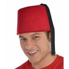 Red FEZ Hat Head Accessorie