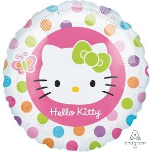 Hello Kitty Standard HX Rainbow Dots Foil Balloon