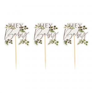 Botanical Baby Cake Toppers