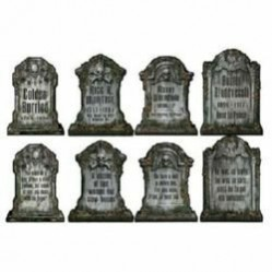 Halloween Tombstone Cutouts