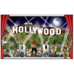 3 m x 25 cm Hollywood /& Movie Night Party Decorations 3m VIP Pennant Banner