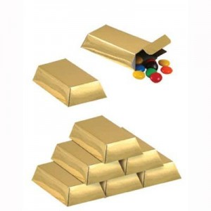 Pirate's Treasure Gold Bar Favour Boxes
