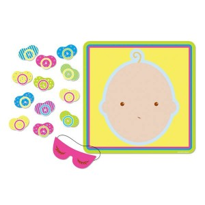 Baby Shower - General Pin the Pacifier on the Baby Party Game
