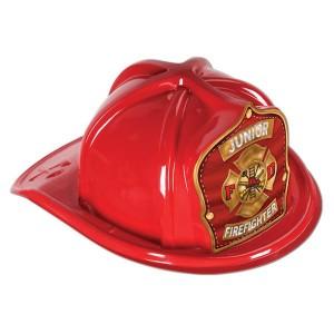 Firefighter Red Junior  Helmet Hat Bargain Corner