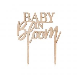 Baby in Bloom Cake Topper