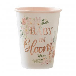 Baby in Bloom Paper Cups